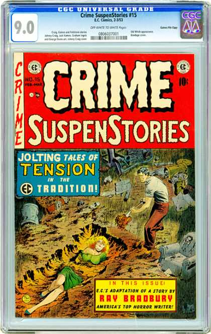 CGC Graded Comics - Crime SuspenStories #15 (CGC)