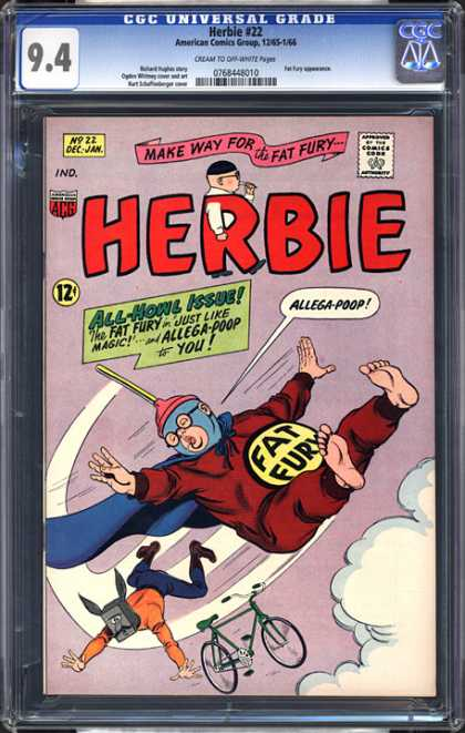 CGC Graded Comics - Herbie #22 (CGC) - Fat Fury - Make Way For The Fat Fury - All-howl Issue - Allega-poop - Flying