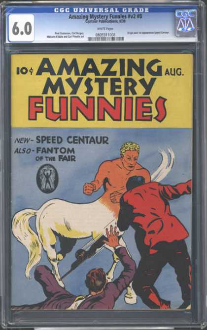 CGC Graded Comics - Amazing Mystery Funnies #v2 #8 (CGC) - Amazing Mystery - Funnies - Speed Centaur - Fantom - Fair