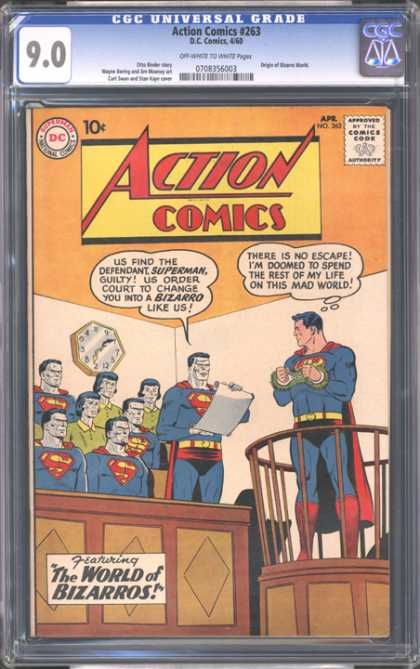 CGC Graded Comics - Action Comics #263 (CGC) - Awesome - Silent - Ding-dong - Great Time - Chubby