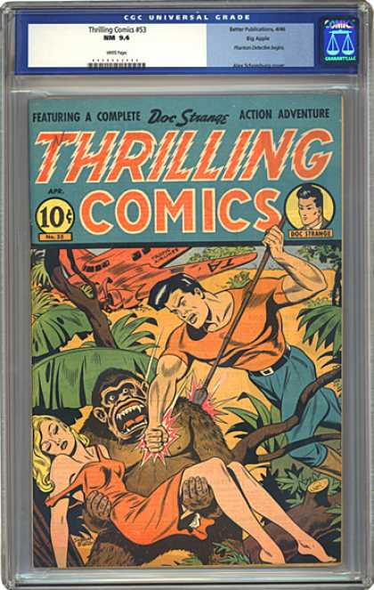 CGC Graded Comics - Thrilling Comics #53 (CGC) - Featuring A Complete - Doc Strangs - Action Adventure - Thrilling Comics - Man