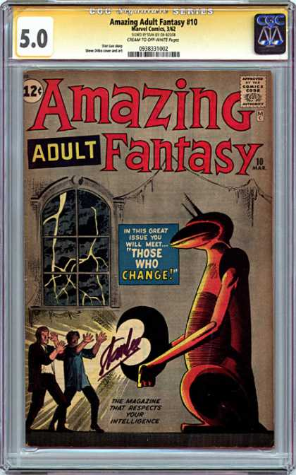 CGC Graded Comics - Amazing Adult Fantasy #10 (CGC) - Lightning - Fantasy - Those Who Change - Window