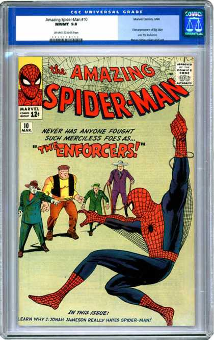 CGC Graded Comics - Amazing Spider-Man #10 (CGC) - Spiderman - Enemies - Web - Hanging - Rescue