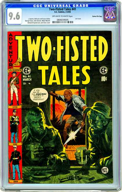 CGC Graded Comics - Two-Fisted Tales #41 (CGC) - Intruder - War - Marines - Danger - Green