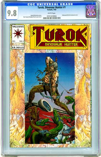 CGC Graded Comics - Turok, Dinosaur Hunter #1 (CGC) - Valiant - 350 - Turok - Dinosaur Hunter - 1