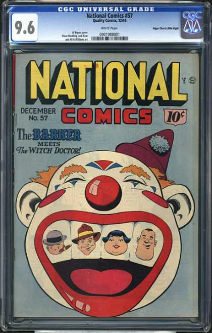 CGC Graded Comics - National Comics #57 (CGC) - Clown - Teeth - Barker - Witch Doctor - Cigar