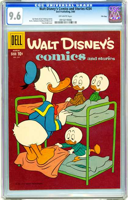 CGC Graded Comics - Walt Disney's Comics and Stories #234 (CGC) - Walt Disney - Ducks - Funny Ducks - Three Ducks - Duck Stories