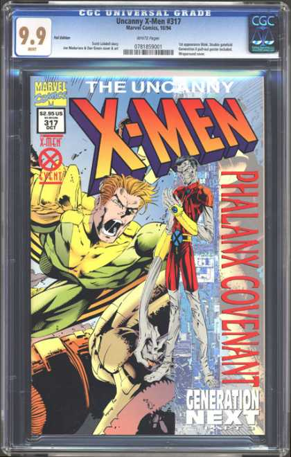 CGC Graded Comics - Uncanny X-Men #319 (CGC) - Generation Next - The Uncanny - Marvel - Phalnax Covenant - Event