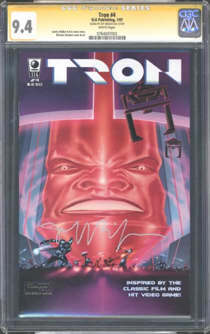 CGC Graded Comics - Tron #4 (CGC) - Tron - Classic Film - Video Game - Face - Nostrils
