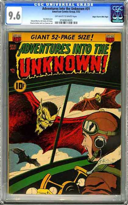 CGC Graded Comics - Adventures into the Unknown #31 (CGC)