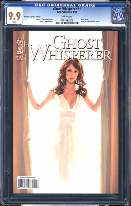 CGC Graded Comics - Ghost Whisperer #1 (CGC) - Babe - Woman - Brunette - Cleavage - Ghost Whiperer