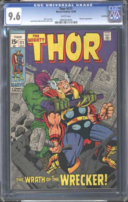 CGC Graded Comics - Thor #171 (CGC) - The Mighty Thor - 15u00a2 - Wrath Of The Wrecker - Marvel - Crow Bar