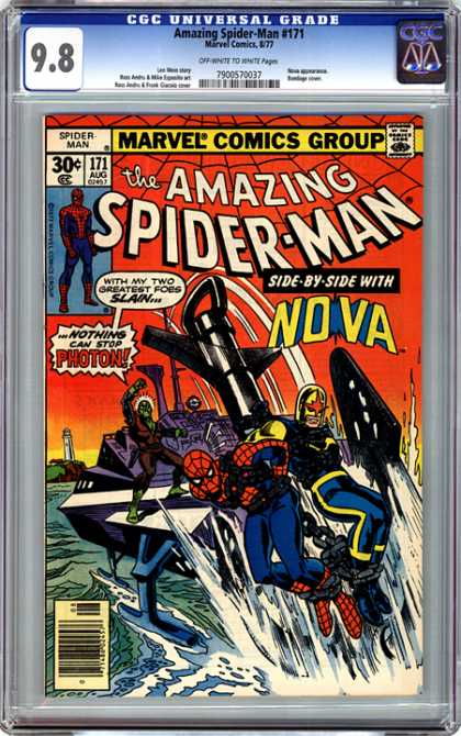 CGC Graded Comics - Amazing Spider-Man #171 (CGC) - Spider Man - Super Man - Nova - Photon - Sea