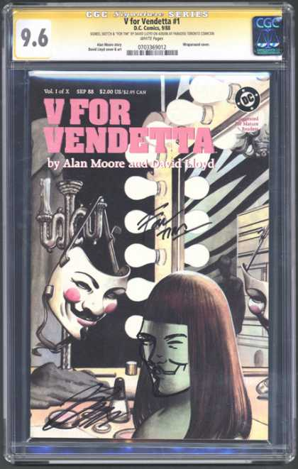 CGC Graded Comics - V for Vendetta #1 (CGC)