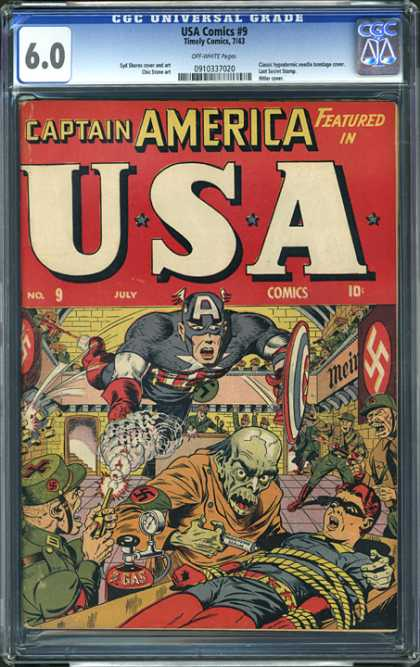 CGC Graded Comics - USA Comics #9 (CGC)