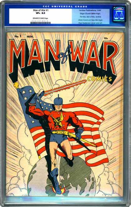 CGC Graded Comics - Man of War #1 (CGC) - Man - War - Man Of War - Comic - Superhero