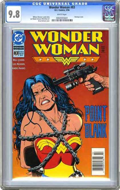 CGC Graded Comics - Wonder Woman #83 (CGC) - Dc - Dc Comics - Wonderwoman - Gun - Scared