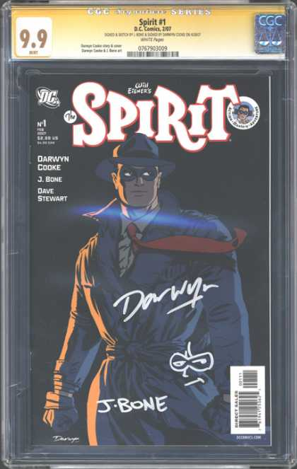 CGC Graded Comics - Spirit #1 (CGC) - Spirit - J Bone - Masked Man - Red Tie - Business Hat