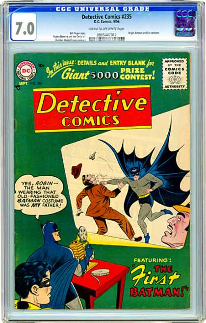 CGC Graded Comics - Detective Comics #235 (CGC) - Detective Comics - Batman - The First Batman - Punch - Robin
