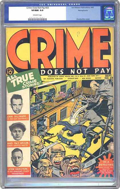 CGC Graded Comics - Crime Does Not Pay #23 (CGC) - Crime Does Not Pay - Prison - Guard - Fight - Criminals
