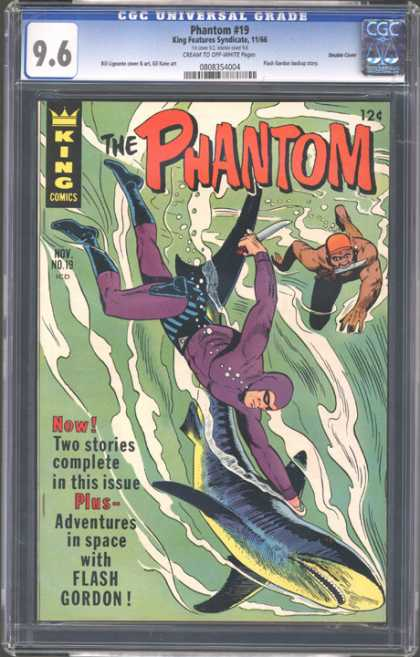 CGC Graded Comics - Phantom #19 (CGC) - The Phantom - King Comics - Shark - Flash Gordon - Adventures In Space