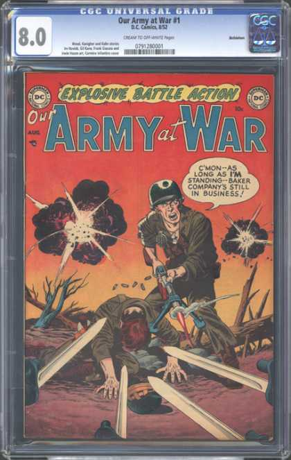 CGC Graded Comics - Our Army at War #1 (CGC)