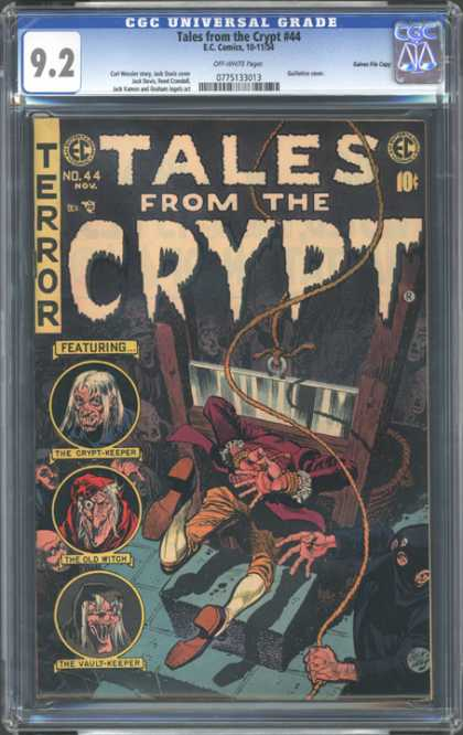 CGC Graded Comics - Tales from the Crypt #44 (CGC) - Tales From The Crypt - The Old Witch - Rope - The Crypt-keeper - The Vault-keeper