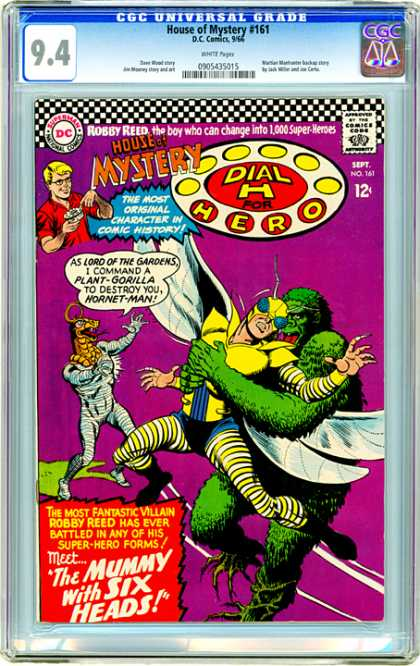 CGC Graded Comics - House of Mystery #161 (CGC) - Six Heads - Mummy - House Of Mystery - H For Hero - Plant-gorilla