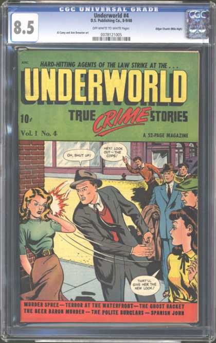 CGC Graded Comics - Underworld #4 (CGC) - Criminal - Murder - Agent - Terror - Slap