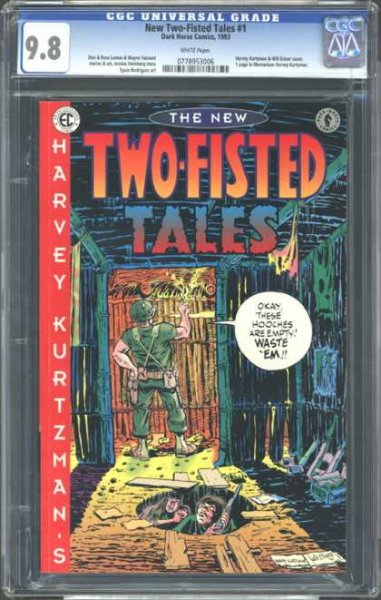 CGC Graded Comics - New Two-Fisted Tales #1 (CGC) - Two-fisted Tales - Hooches - Harvey Kurtz - Soldier - 1993