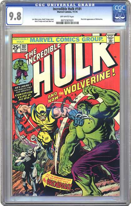 CGC Graded Comics - Incredible Hulk #181 (CGC)