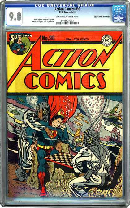 CGC Graded Comics - Action Comics #96 (CGC) - Superman - Underwater - Diving - Fish - Bubbles