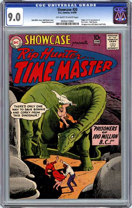 CGC Graded Comics - Showcase #20 (CGC) - Showcase - Rip Hunter - Time Master - Comics Code - Prisoners Of 100 Million Bc