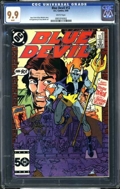 CGC Graded Comics - Blue Devil #12 (CGC) - Dc - Speech Bubbles - Blue Devil - Bricks - Brunette