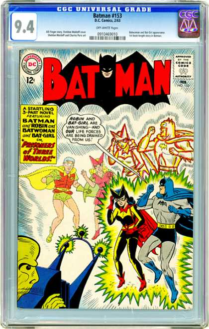 CGC Graded Comics - Batman #153 (CGC) - Batman - Robin - Batwoman - Bat-girl - Prisoners Of Three Worlds