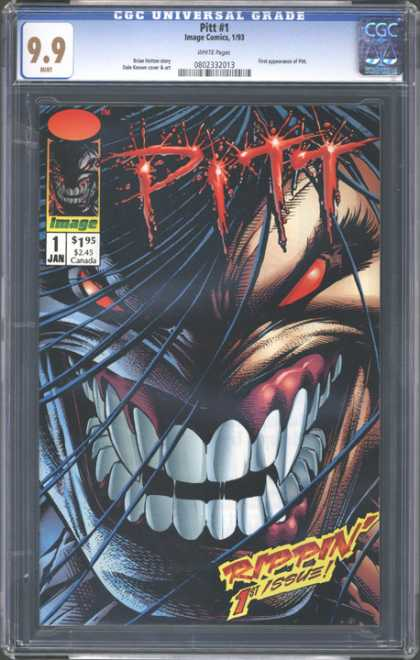 CGC Graded Comics - Pitt #1 (CGC) - Pitt - Rippin - Red Eyes - Fangs - First Issue