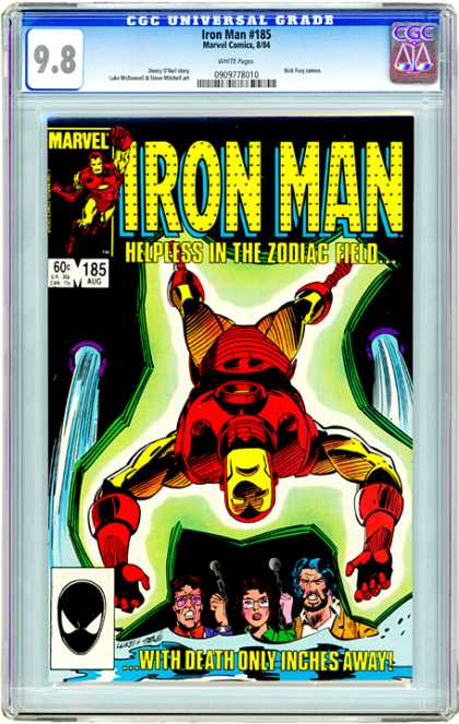 CGC Graded Comics - Iron Man #185 (CGC) - Iron Man - Gold Suit - Zodiac - Water - Deathtrap