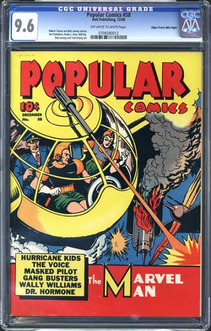 CGC Graded Comics - Popular Comics #58 (CGC) - 96 - Popular - Ioc - The Voice - Marvel