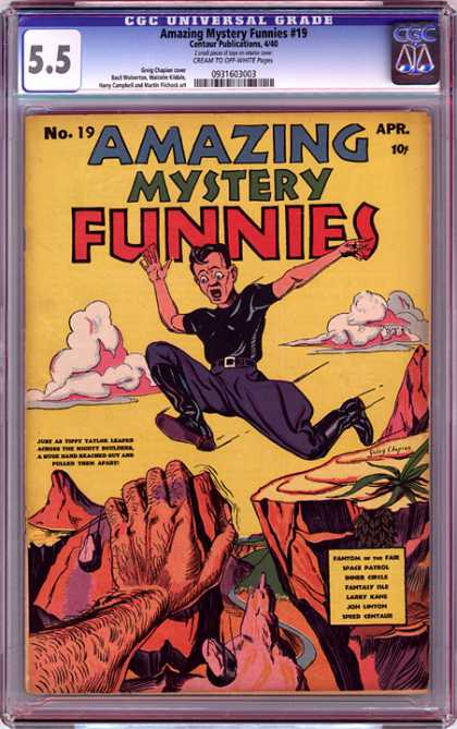 CGC Graded Comics - Amazing Mystery Funnies #19 (CGC) - Amazing Mystery - Comic - Man - Trouble - Funnies