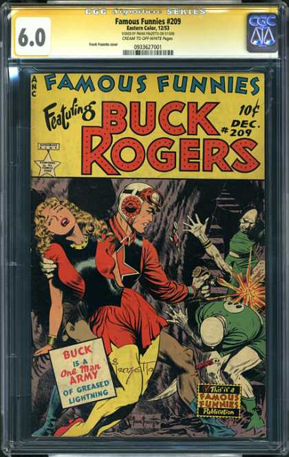 CGC Graded Comics - Famous Funnies #209 (CGC) - Buck Rodgers - One Man Army Of Greased Lightning - Lady Fainted - Monsters - Goggles