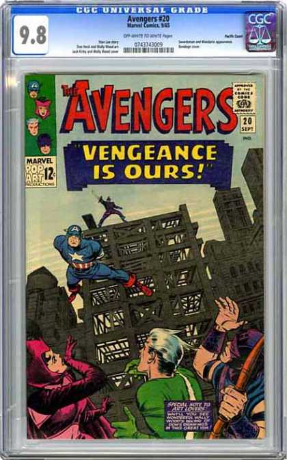 CGC Graded Comics - Avengers #20 (CGC) - Buildings - Building Under Construction - Superheroes - Bow - Sword