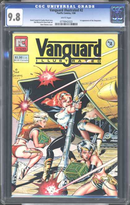 CGC Graded Comics - Vanguard Illustrated #2 (CGC) - Vanguard Illustrated - Lasers - Red Hair - Space Ship - Ramp