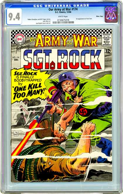 CGC Graded Comics - Our Army at War #174 (CGC) - Sgt Rock - Purple Gun - Army Man - Nazi Symbol - Our Army At War