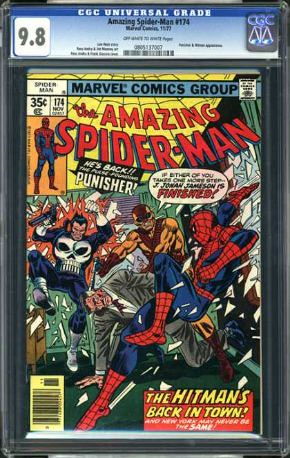 CGC Graded Comics - Amazing Spider-Man #174 (CGC) - Punisher - Hitman - Broken Window - No 174 - Office