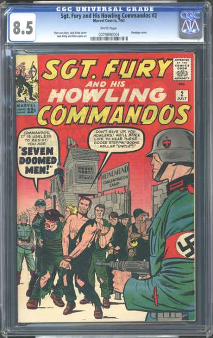 CGC Graded Comics - Sgt. Fury and His Howling Commandos #2 (CGC) - Nazi - Prisoners