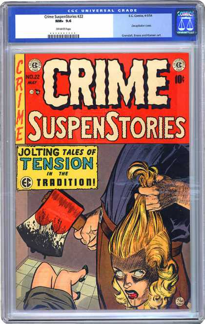 CGC Graded Comics - Crime SuspenStories #22 (CGC) - Crime - Suspenstories - No22 May - Ec Comics - Tension
