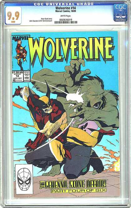 CGC Graded Comics - Wolverine #14 (CGC) - Gehenna Stone Affair - Part Four Of Six - Battle - Wolverine - Fierce