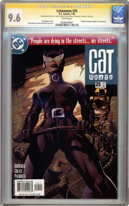 CGC Graded Comics - Catwoman #25 (CGC) - Catwoman - Approved By The Comics Code - Superhero - Lash - Direct Sales