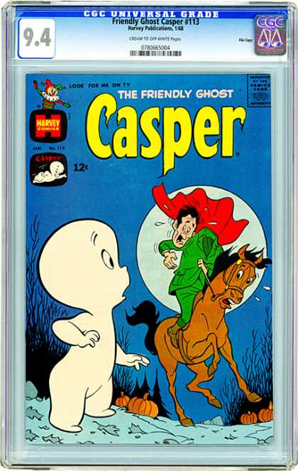 CGC Graded Comics - Friendly Ghost Casper #113 (CGC) - 113 - Headless Horseman - Pumpkin - Moon - Forest