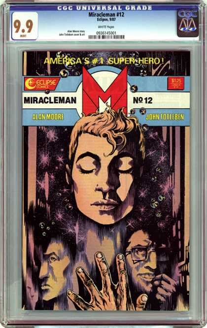 CGC Graded Comics - Miracleman #12 (CGC) - Art Deco - Faces - Space - Stars - Hand